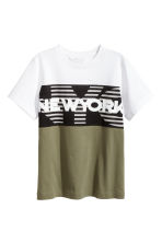 Printed T-shirt - Khaki green/New York -  | H&M CN 2